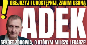 Read more about the article Hubert Czerniak: Sekret zdrowia, o którym milczą lekarze.