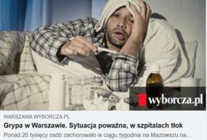 Grypa w 2016 roku w warszawskich szpitalach