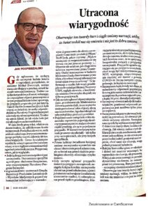 Read more about the article Utracona Wiarygodność